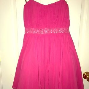 Pink High low formal dress. Super cute size 9